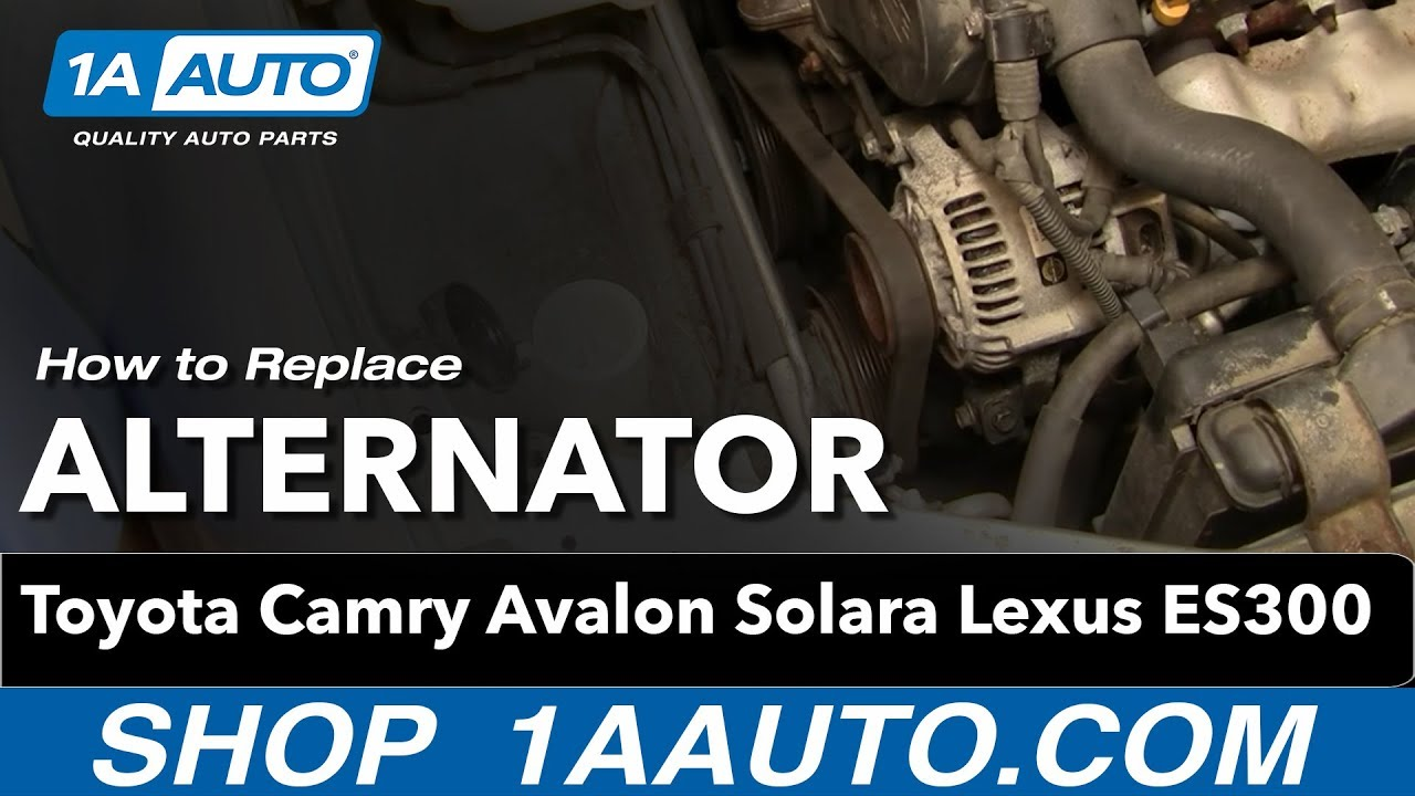 how to install replace alternator toyota camry avalon solara lexus es300 3 0l v6 1aauto com [ 1280 x 720 Pixel ]