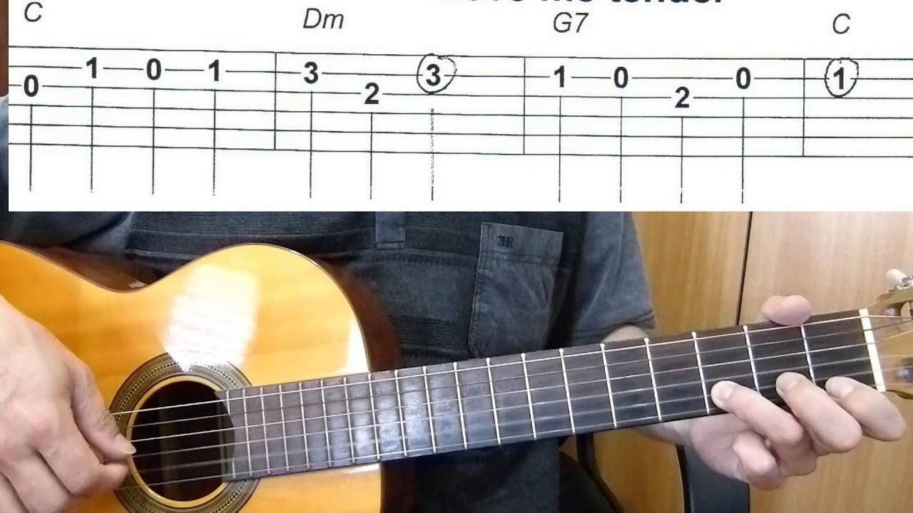 Love Me Tender Easy Guitar Melody Tutorial Tab Guitar Lesson