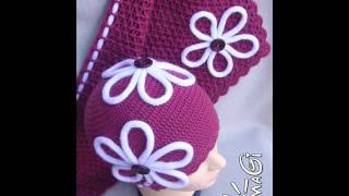 Вязаные шапочки для детей. Crochet hats for children.