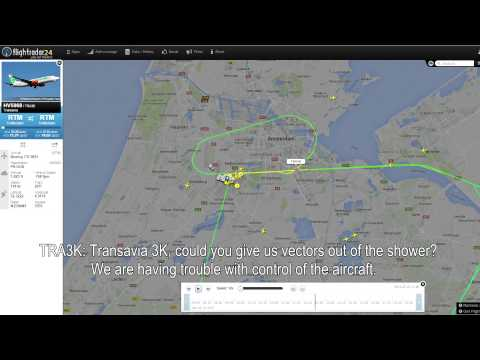 ATC Audio: Transavia 737 in Heavy Wind Shear Trouble! [25-7-2015, Subtitles Included]