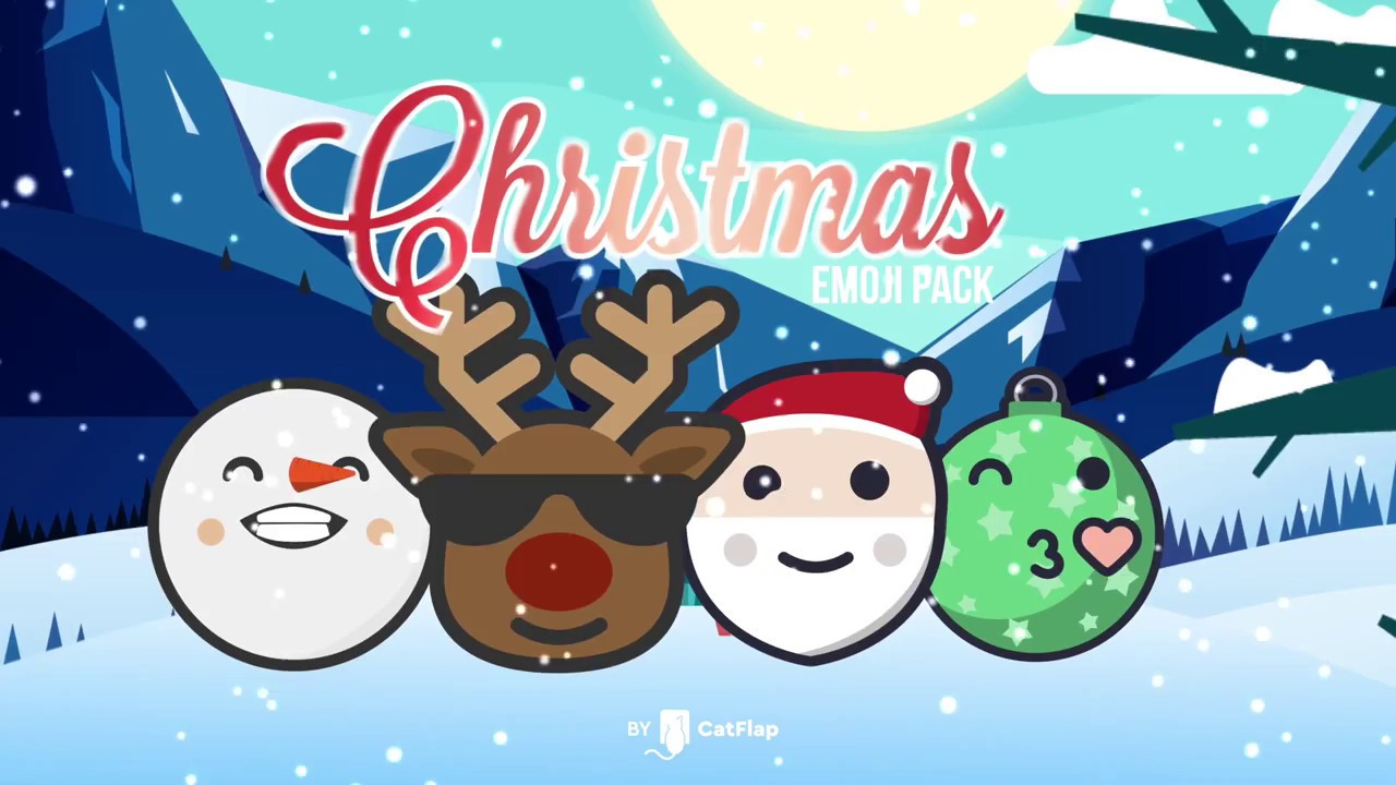 120 Animated Emojis Christmas Pack