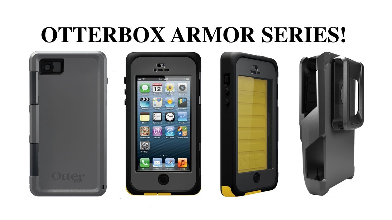 new product b3202 692ef Otterbox Armor Series Case For Apple iPhone 5 & Armor Series Belt Holster  Unboxing & Review