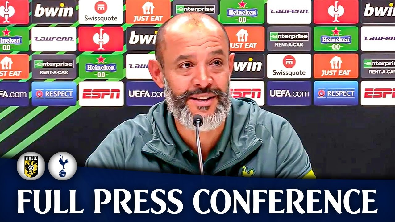 Download Nuno 'TOUGH MATCH AS EXPECTED!' • Vitesse 1-0 Tottenham • POST MATCH PRESS CONFERENCE