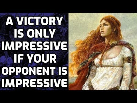 A victory is only impressive if your opponent is impressive.