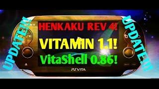 Ps Vita Hacks 3.60! HENKAKU Revision 4, VITAMIN 1.1, VITASHELL, Amphetamin Plugin! GUIDE!!!