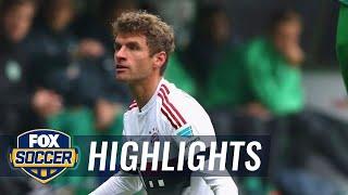Muller puts Bayern Munich in front vs. Werder Bremen  2015–16 Bundesliga Highlights