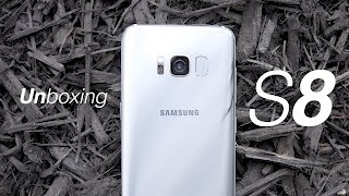 Samsung Galaxy S8 Arctic Silver Unboxing!