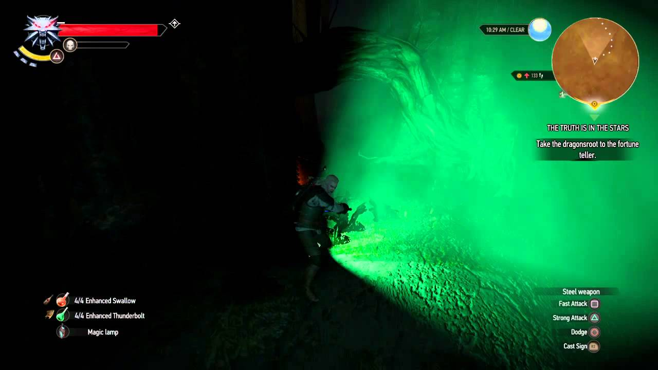 Witcher 3 Lamp Swordplay Visual Effect