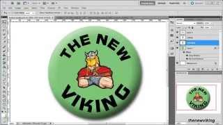 photoshop techniques: create a button badge