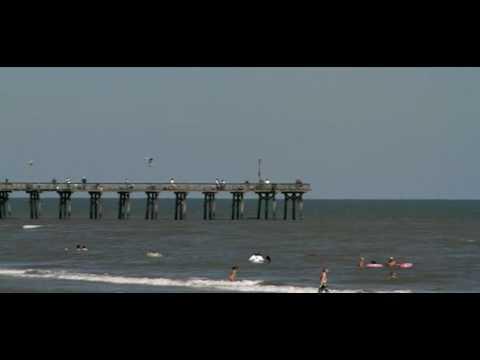 The Late Fishing pier  on Galveston Seawall