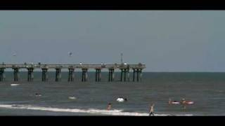 The Late Fishing pier  on Galveston Seawall