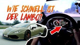 Über 340 km/h im LAMBO und PORSCHE GT3 auf der Autobahn (Höchstgeschwindigkeit)