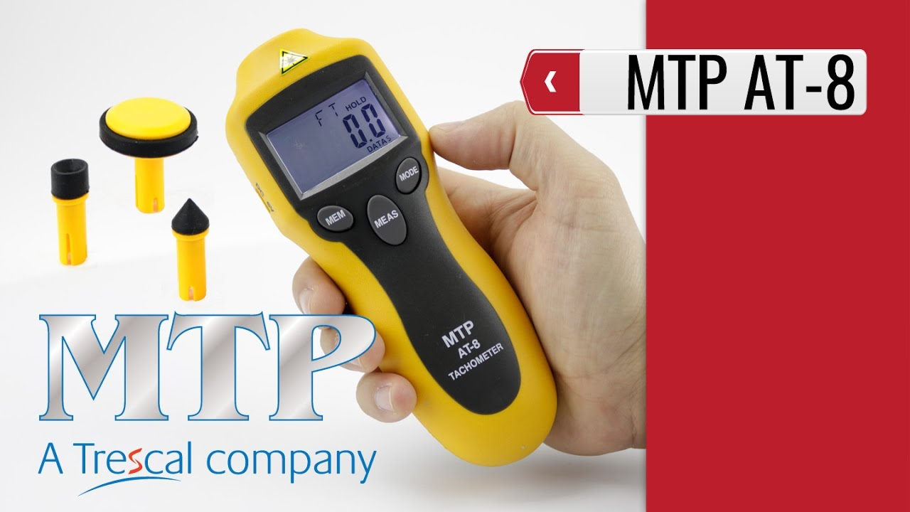 MTP AT-8 Contact/Non-Contact Tachometer (product video presentation)