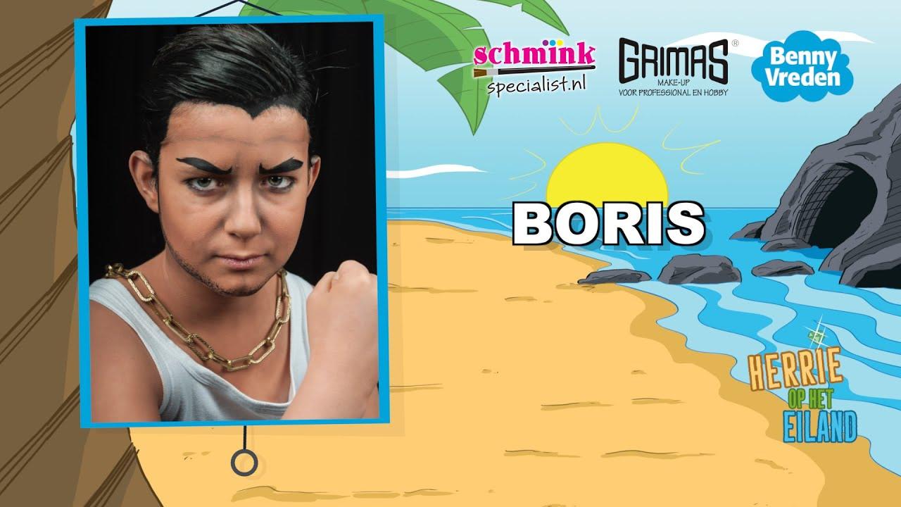 Boris Theatermake-up voorbeeld - YouTube