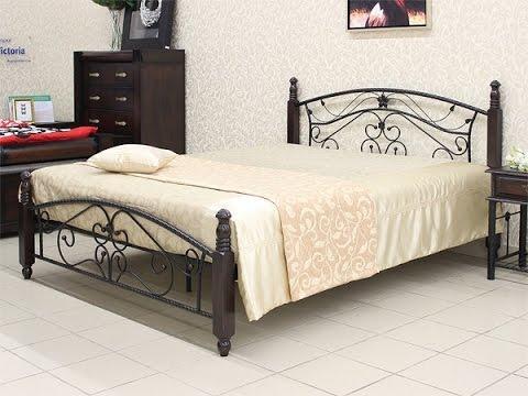 Кровать из дерева и металла PS-8831