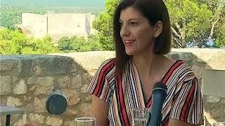 Ravnateljica ustanove Tvrđava kulture Gorana Barišić Bačelić u novoj Ćakuli (kolovoz, 2018.)