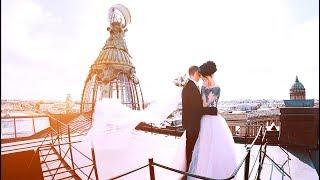 Аэросъёмка. Очень красивый свадебный видеоклип.