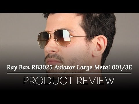 ray ban rb3025 original aviator 58mm  Ray-Ban RB3025 Aviator Large Metal 001/3E Sunglasses Review - YouTube