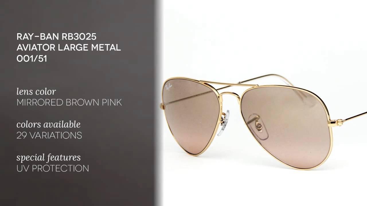 0b1121dae Ray-Ban RB3025 Aviator Large Metal Sunglasses Review - YouTube