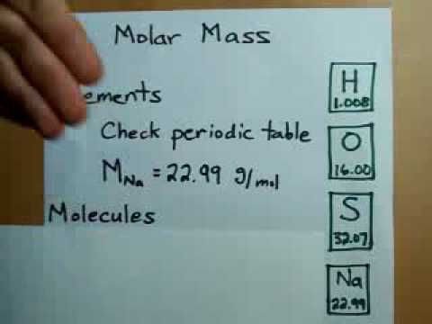 How to calculate molar mass youtube urtaz Image collections