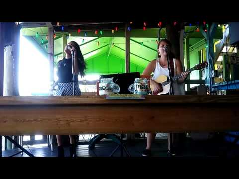 Regi and Kimi singing at The Key Lime House