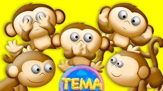 Песенка про пять обезьянок FIVE LITTLE MONKEYS nursery rhymes for kids