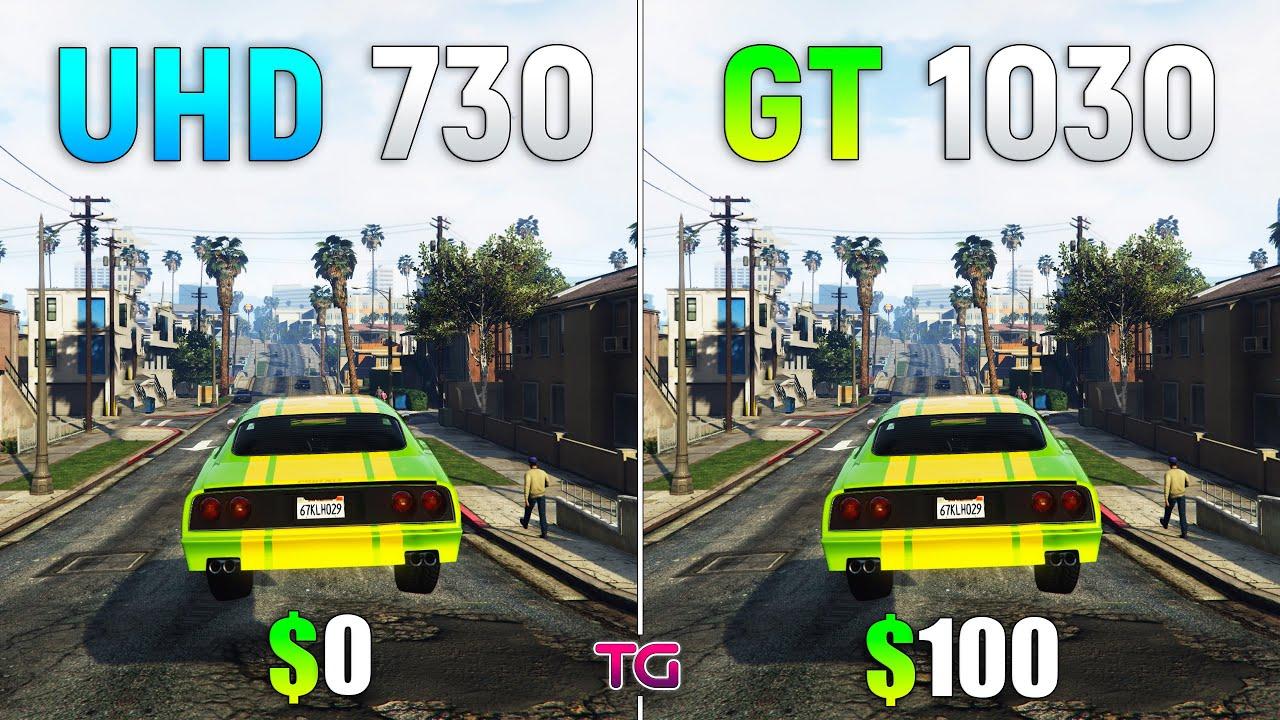 UHD 730 vs GT 1030 - Test in 7 Games