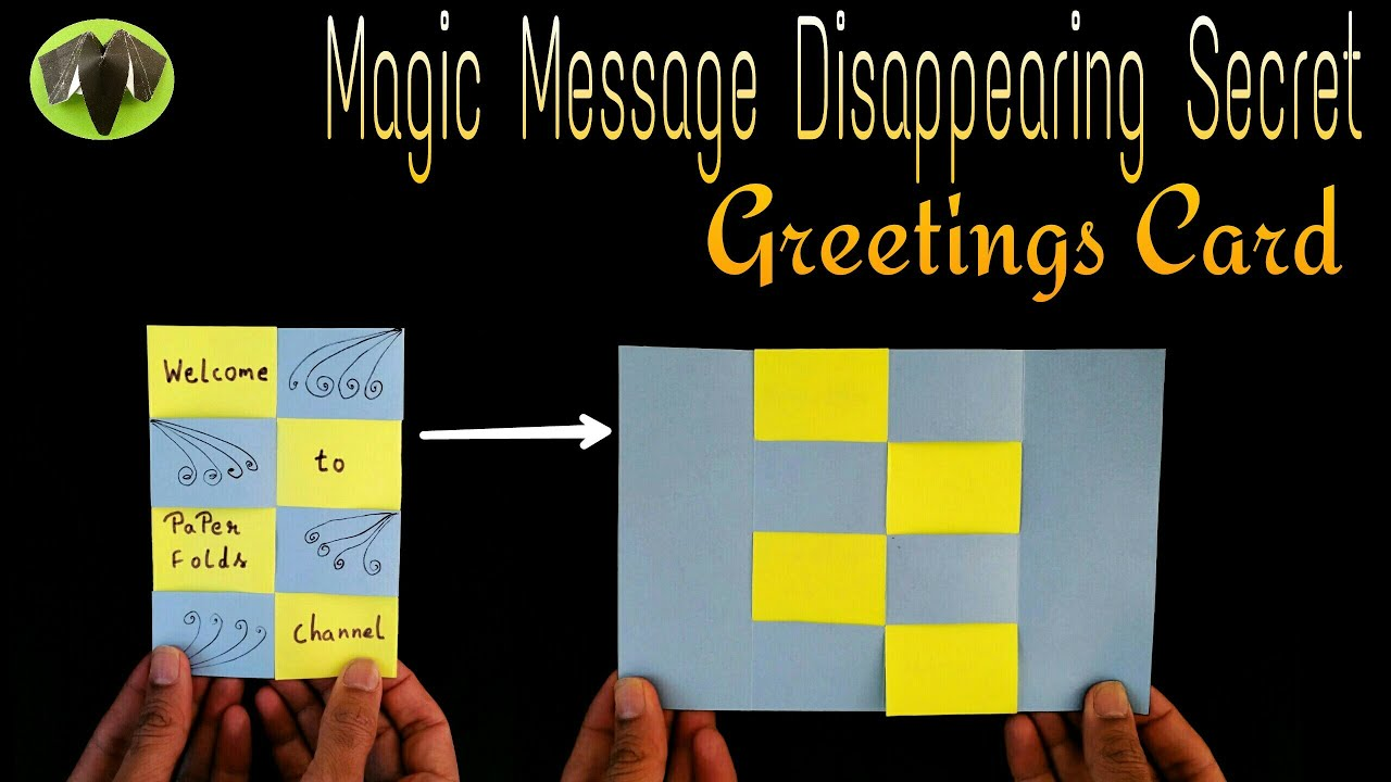 Message disappearing secret magic card diy tutorial by paper message disappearing secret magic card diy tutorial by paper folds youtube m4hsunfo