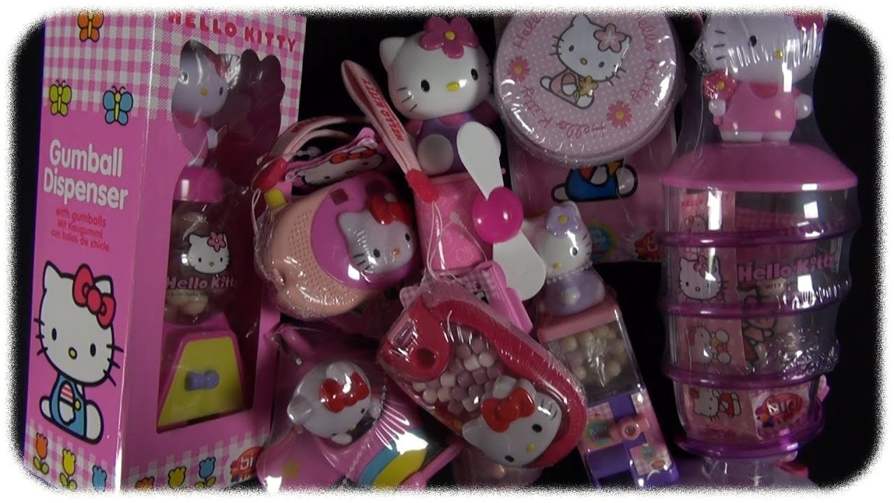 Toy Hello Kitty Watch : Hello kitty candy toys mega unboxing youtube