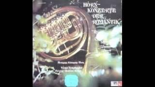Gambar cover Hermann Baumann plays Konzerststück Schumann for 4 horns, 2nd tempo. Lp record.