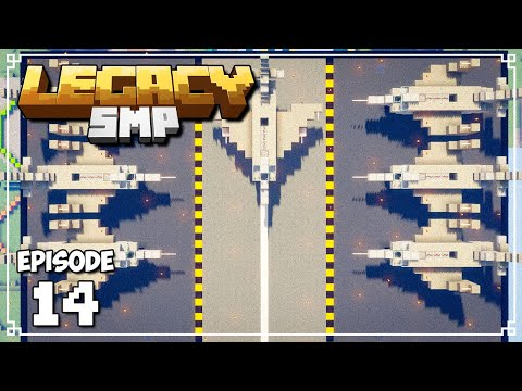 Legacy SMP - FIGHTER JET BEE FARMS! (Minecraft 1.15 Survival)
