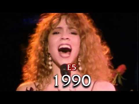 Mariah Carey Evolution of E5 live: 1990-2017