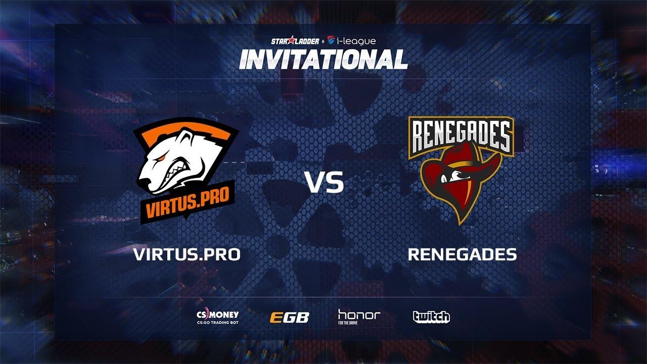 Virtus.pro vs Renegades, map 1 cobblestone, SL i-League Invitational Shanghai 2017