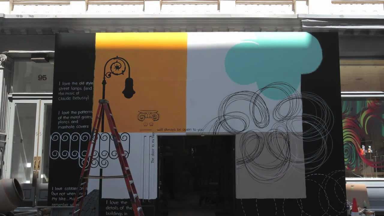 4c1ebc6e55 Tiffany   Co. — The Tiffany Soho Mural by Danielle Dimston - YouTube
