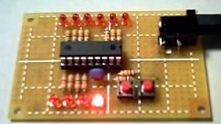 PIC16F84A ビットシフトで8個のLEDを順送り点灯