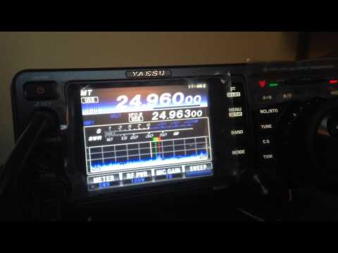 Yaesu FT-991 QSO SSB 12m with HR5/F2JD from Honduras - IW2NOY