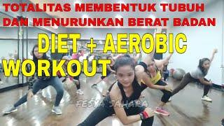 Download lagu Diet plus aerobic workout, efektif menurunkan berat badan membentuk tubuh. senam aerobik low impact