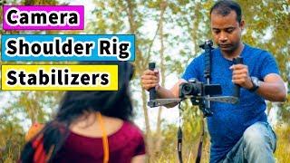 DSLR Camera Shoulder Rig Stabilizers & Gimbal
