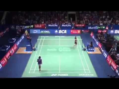 Day-4 2015 Indonesia Open - Lindaweni Fanetri vs Ratchanok Intanon (Sports)