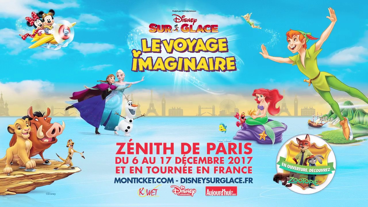 disney sur glace le voyage imaginaire au z nith de paris et en tourn e en france youtube. Black Bedroom Furniture Sets. Home Design Ideas