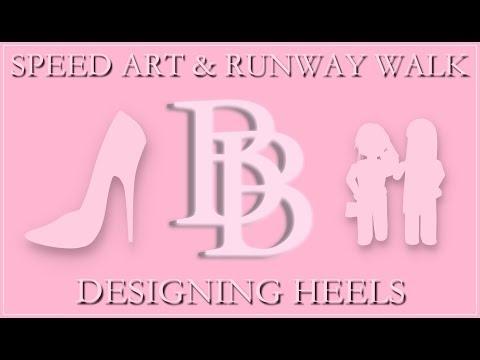 Speed Art Designing Heels On Roblox Youtube