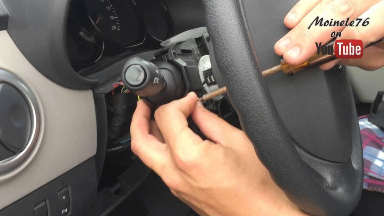 Probl 232 Me Klaxon Dacia Duster Logan Lodgy Sandero Changement Comodo Facile Youtube