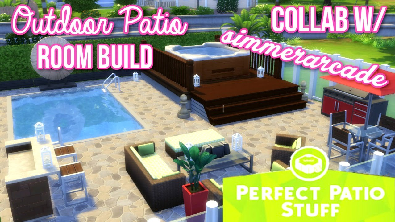 the sims 4 outdoor patio room build collab w simmerarcade