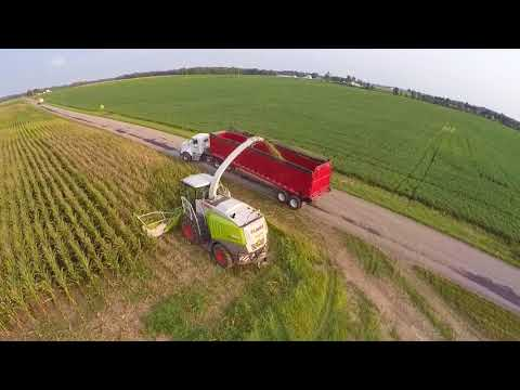 Chopping Corn at Hoosier Hill - September 2017