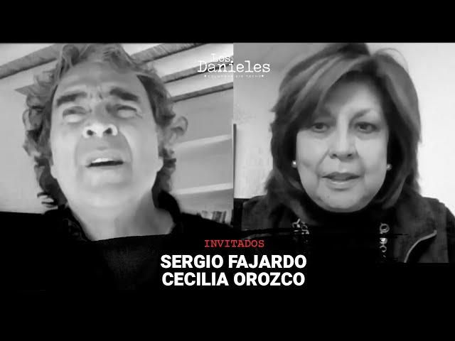 Sergio Fajardo y Cecilia Orozco en Los Danieles