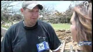 Felicia Rodriguez Tours Alabama Tornado Damage