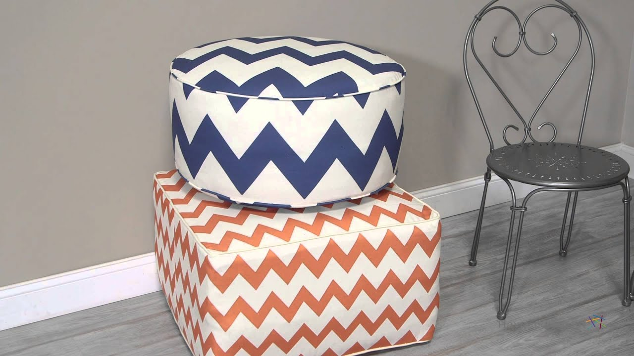 Valencia Indoor/Outdoor Square Pouf Ottoman   25 X 25 In.   YouTube