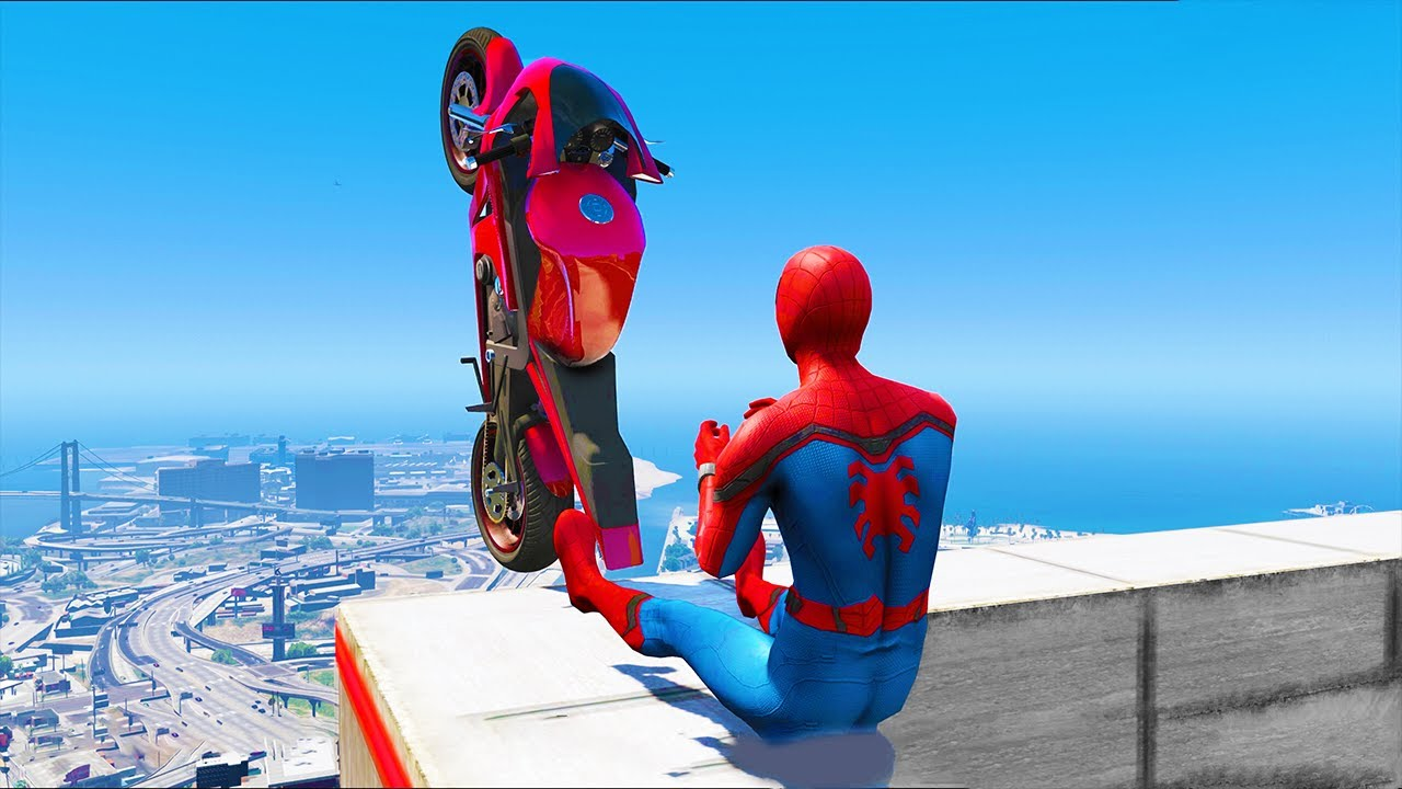 Download GTA 5 Spiderman Epic Jumps #12 ( Spider-Man Stunts & Fails )