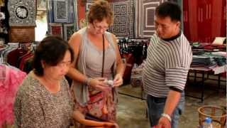 Shopping for Story Cloths in Doi Pui, Thailand