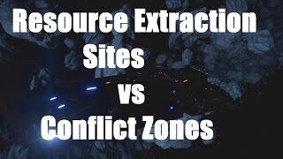 Elite: Dangerous - Resource Extraction Sites vs Conflict Zones
